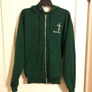🍀 Champion Zip-up Hoodie - Ireland & Celtic Cross